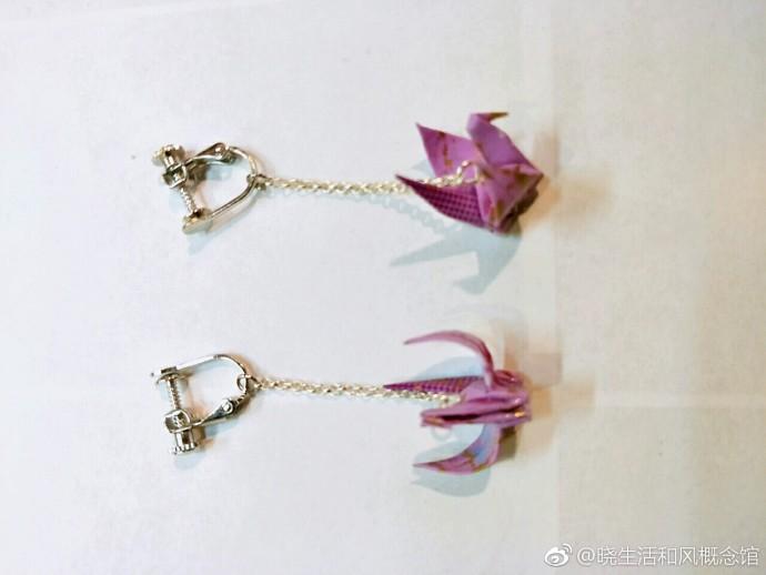 5.31【晓生活】设计师德川丹子原创的和风千纸鹤耳环